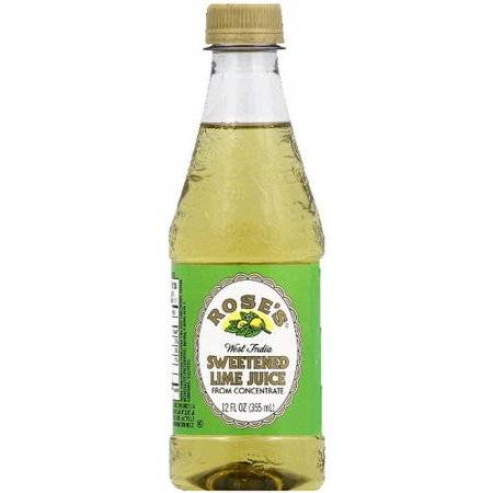 Rose's Sweetend Lime Juice - 12oz