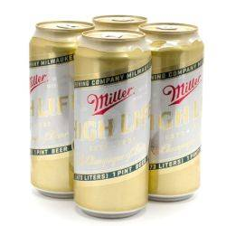 Miller - High Life - 16oz Can - 4 Pack