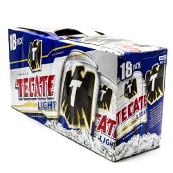 Tecate - Light Beer - 12oz Can - 18 Pack