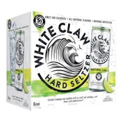 White Claw Hard Seltzer Lime - 6 pack