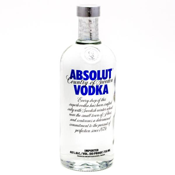 Absolut - Vodka - Red 80Proof - 750ml