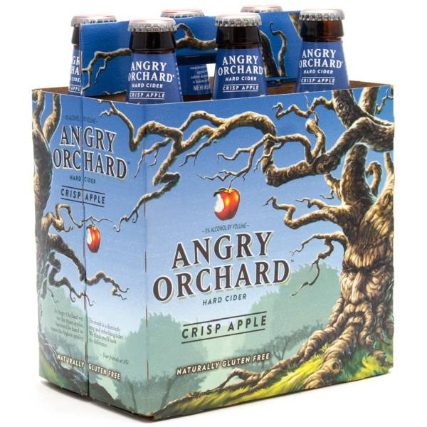 Angry Orchard - Hard Cider Crisp Apple - 12oz Bottle - 6 Pack