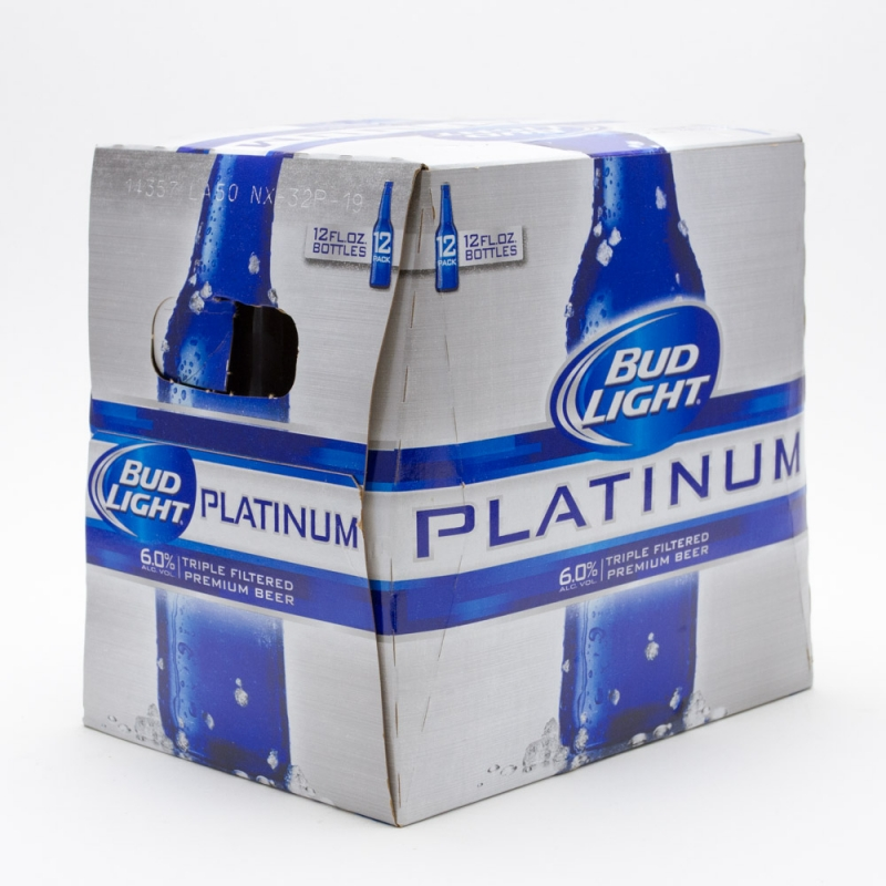 Bud Light - Platinum - 12oz Bottle - 12 Pack