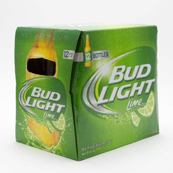 Bud Light Lime   12oz Bottle   12 Pack