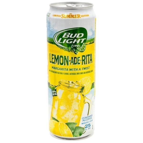 Bud Light Lime   Lemon Ade Rita Margarita   25oz Can Home Design Ideas
