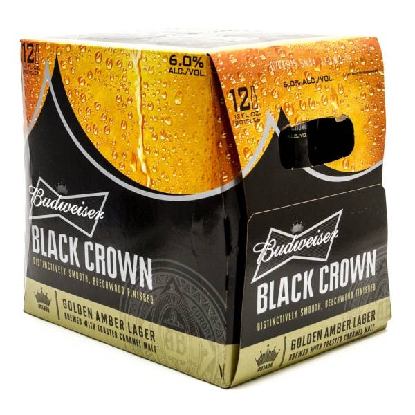 Budweiser - Black Crown - 12oz Bottle - 12 Pack
