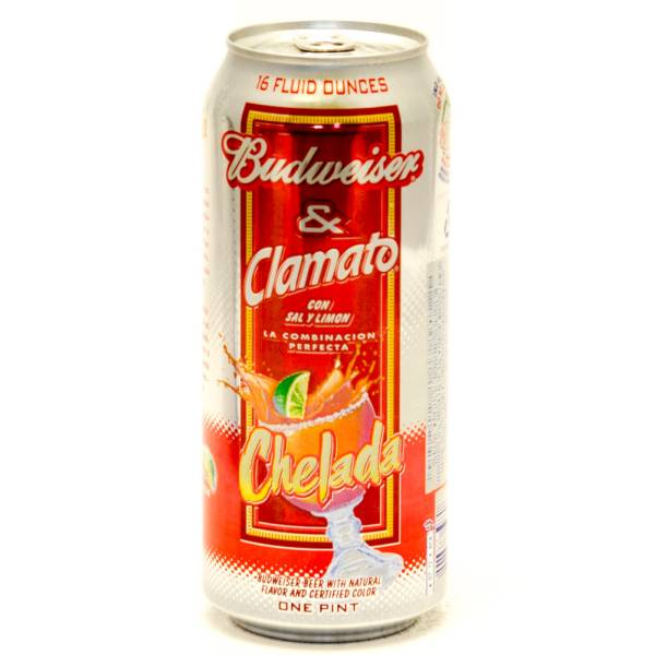 Budweiser & Clamato - Chelada - 16oz Can