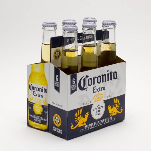 Corona Extra - Coronitas Imported Beer - 7oz Bottle - 6 Pack
