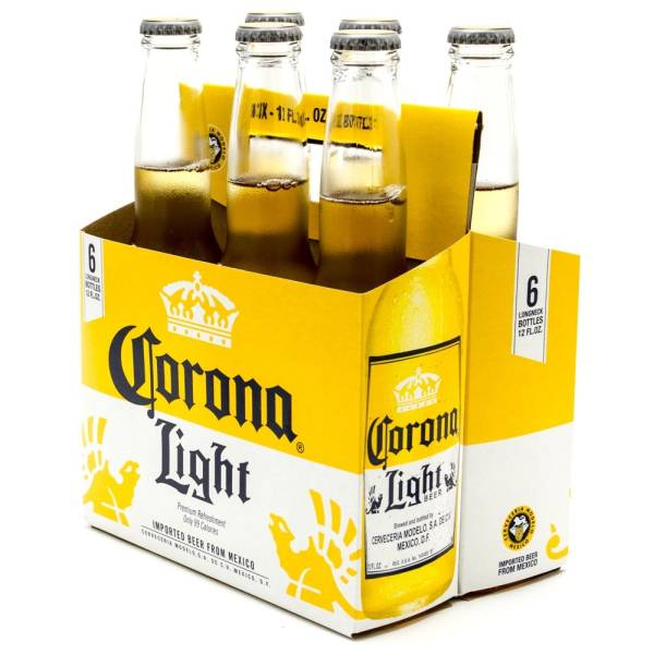 Corona Light - Imported Beer - 12oz Bottle - 6 Pack