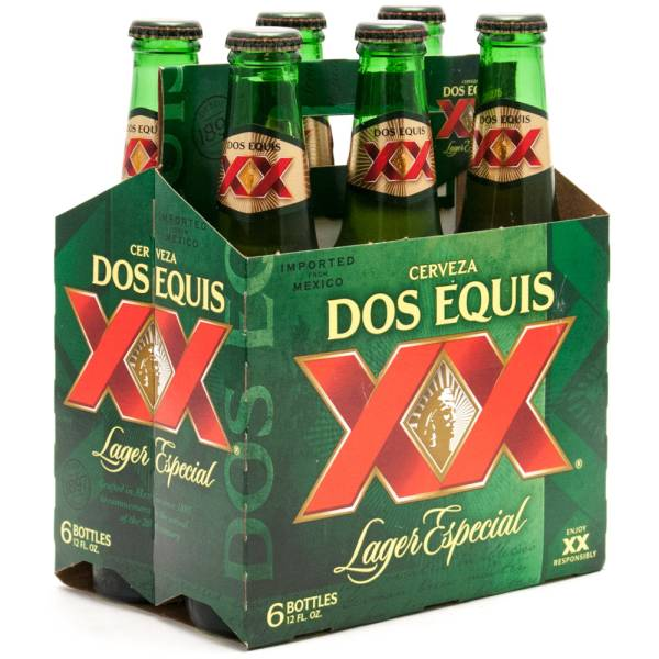 Dos Equis XX - Lager Especial - 12oz Bottle - 6 Pack