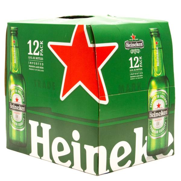 Heineken - Lager Beer - 12oz Bottle - 12 Pack