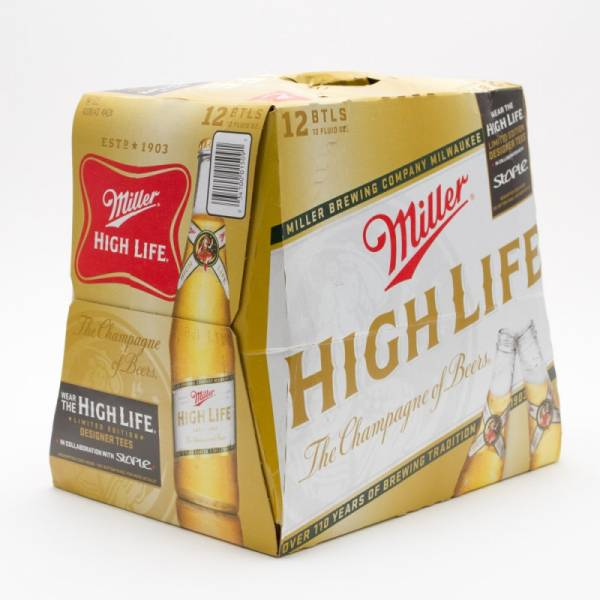 Miller - High Life - 12oz Bottle - 12 Pack