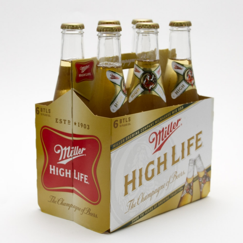 Miller - High Life - 12oz Bottle - 6 Pack