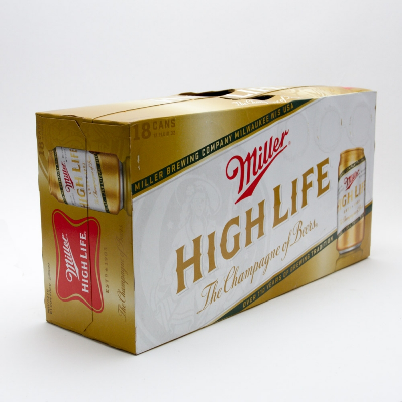 Miller - High Life - 12oz Can - 18 Pack