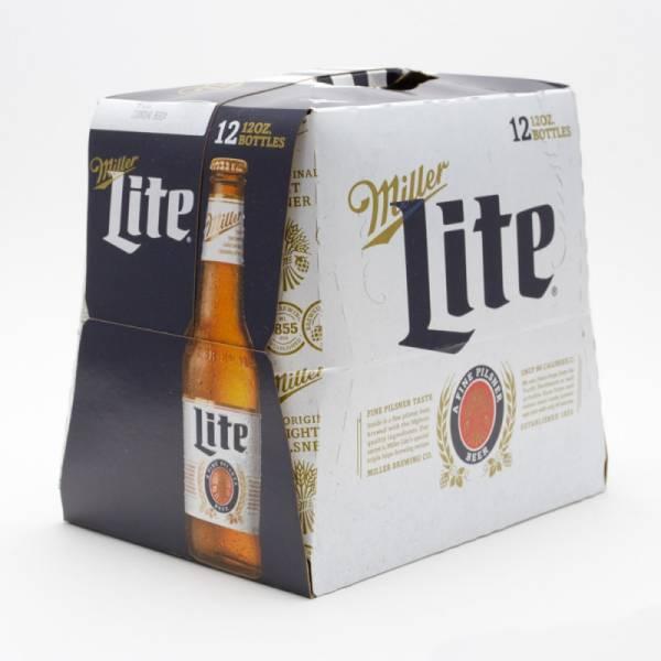 Miller - Lite Beer - 12oz Bottle - 12 Pack