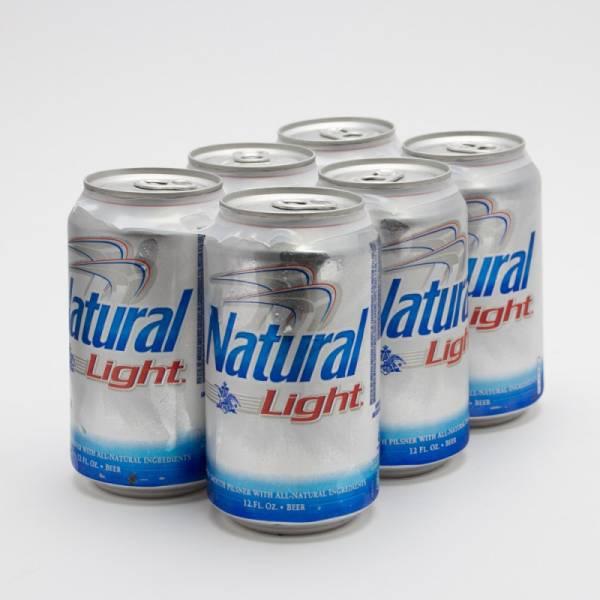 Natural Light - Beer - 12oz Can - 6 Pack