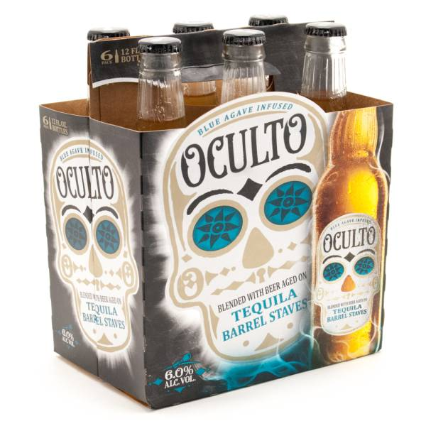 Oculto - Blue Agave Blended With Beer Tequila Barrel Staves - 12oz Bottle - 6 Pack