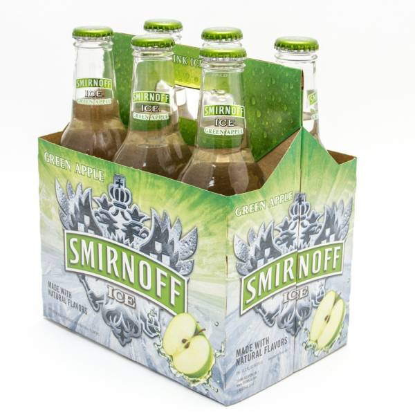 Smirnoff Ice - Green Apple- 11.2oz Bottle - 6 Pack