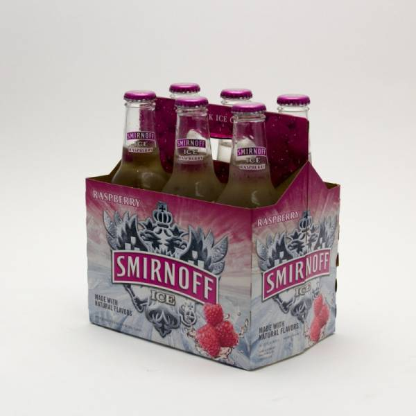 Smirnoff Ice - Raspberry - 11.2oz Bottle - 6 Pack