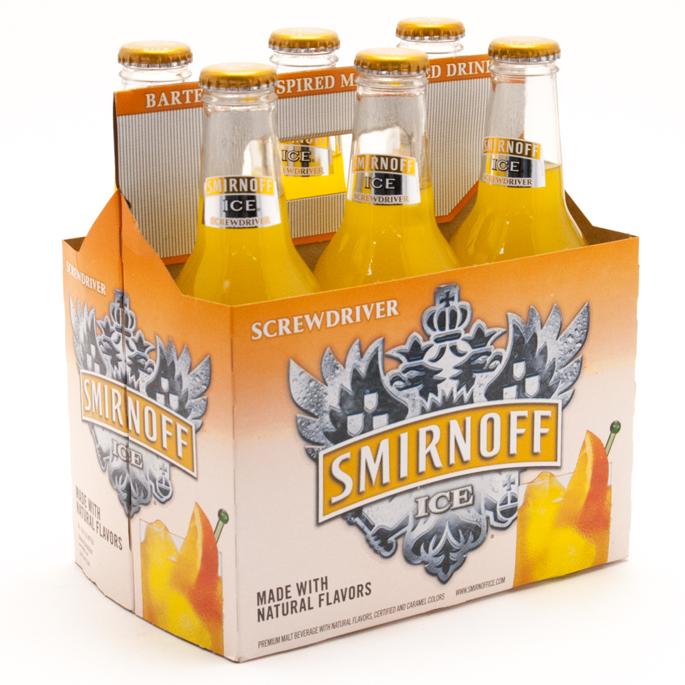 Smirnoff Ice - Screwdriver - 11.2oz Bottle - 6 Pack