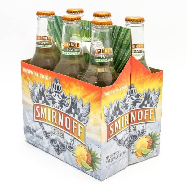 Smirnoff Ice - Tropical Fruit- 11.2oz Bottle - 6 Pack