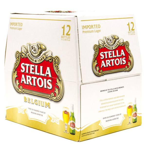 Stella Artois - Imported Lager - 11.2oz Bottle - 12 Pack