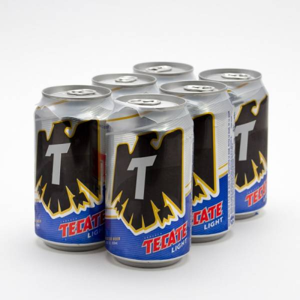 Tecate - Light Beer - 12oz Can - 6 Pack