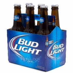Bud Light - 12oz Bottle - 6 pack