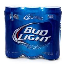 Bud Light - 25oz Can - 3 Pack