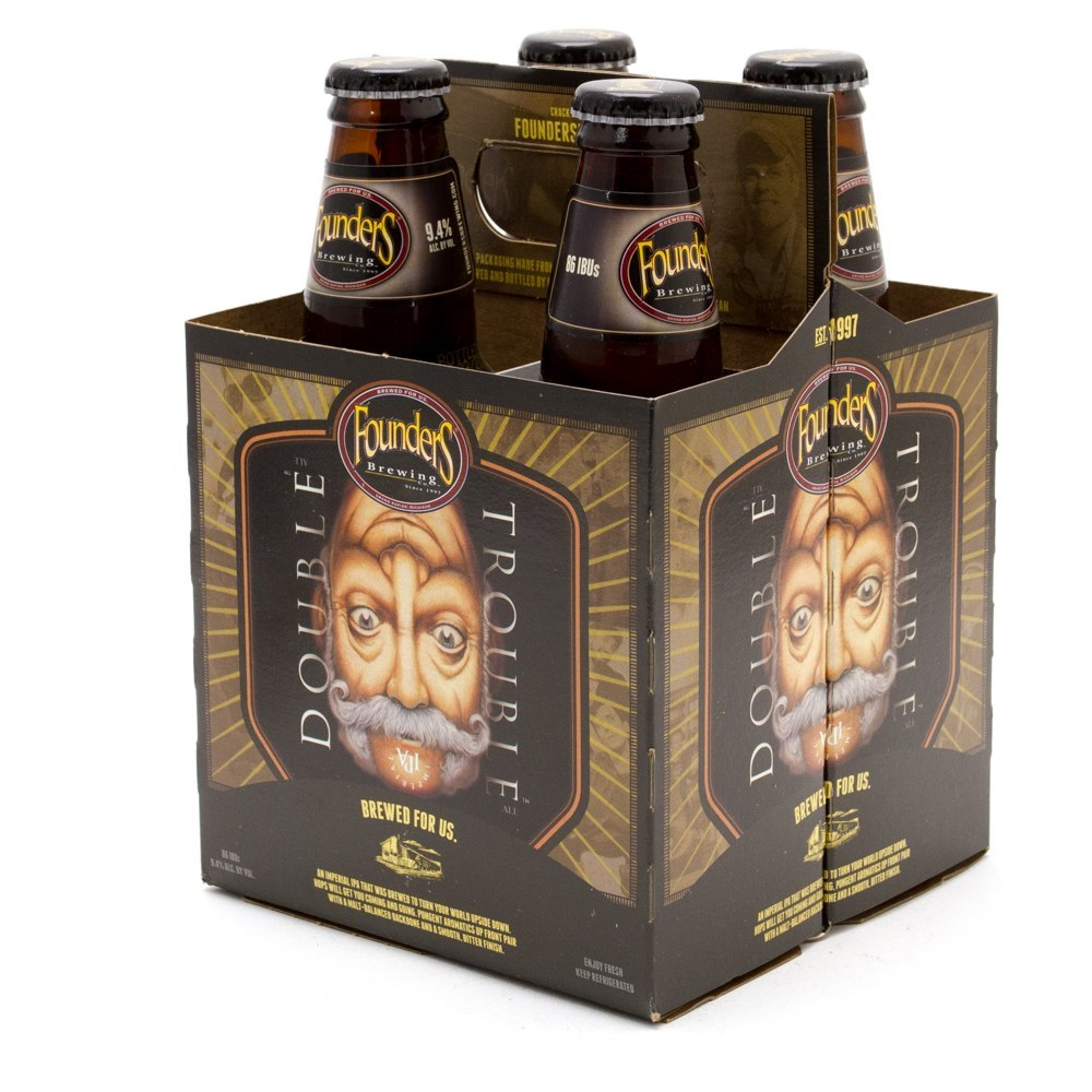 Founders - Double Trouble IPA - 12oz Bottle - 4 Pack