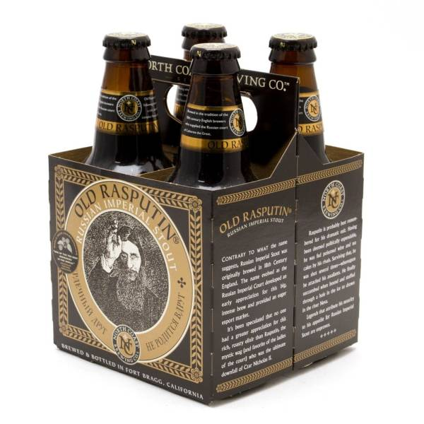 North Coast - Old Rasputin - Russian Imperial Stout - 12oz Bottle - 4 Pack