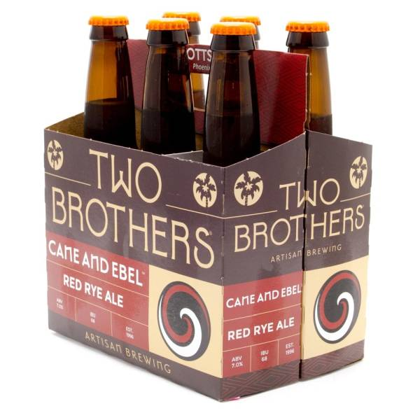 Two Brothers - Cane And Ebel Red Rye Ale - 12oz Bottles - 6 pack