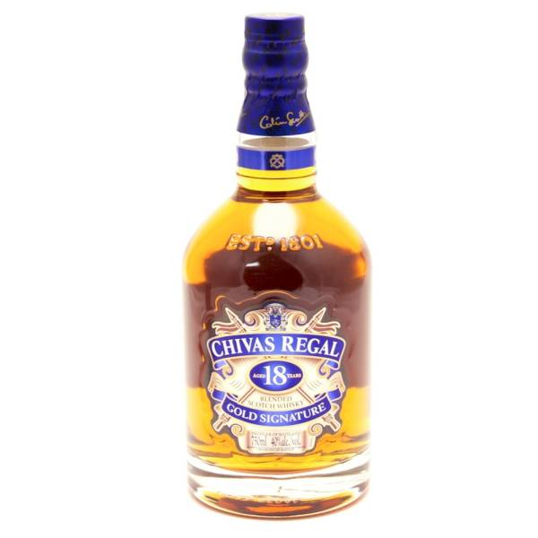 Chivas regal aged 18 years gold signature blended scotch whisky 750ml beer wine and - Chivas regal 18 1 liter price ...