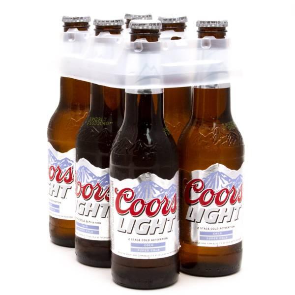 Coors Light 6 Pack 12oz Bottles