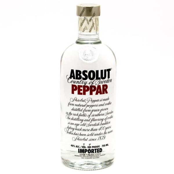 Absolut - Peppar Vodka - 750ml