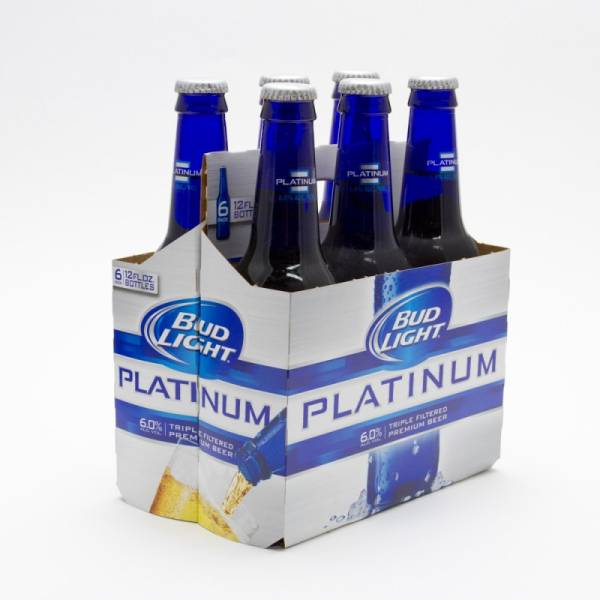 Bud Light Platinum 12oz Bottle 6 Pack Beer Wine