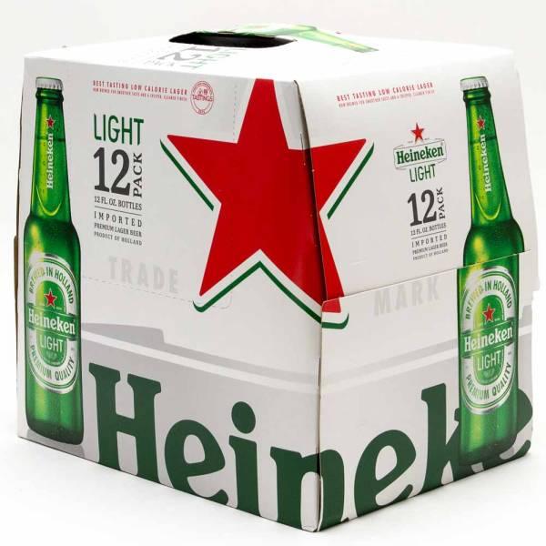 Heineken Light - 12oz Bottle - 12 Pack