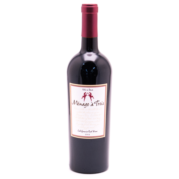 Menage a Trois - California Red Wine 2012 - 750ml