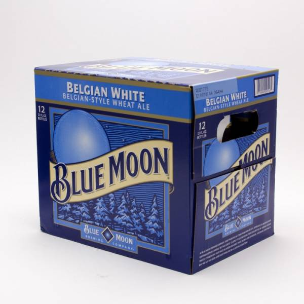 Blue Moon - Belgian White Wheat Ale - 12oz Bottle - 12 Pack