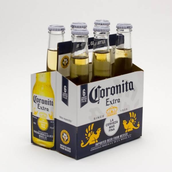 Corona Extra - Coronitas Imported Beer - 7oz Bottle - 6 Pack