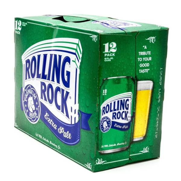 Rolling Rock - Extra Pale Premium Beer - 12oz Can - 12 Pack
