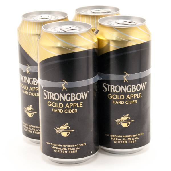 Strongbow - Gold Apple Cider - Gluten Free - 14.9oz - 4 Pack
