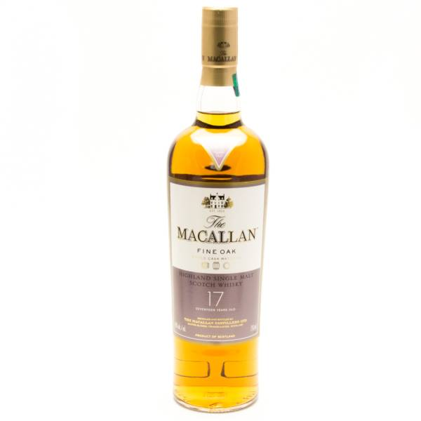 Macallan - Fine Oak - Highland Single Malt Scotch Whisky - 17 Years Old - 750ml