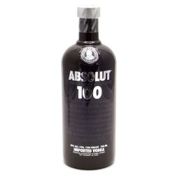 Absolut - 100 Black Bottle - Vodka -...