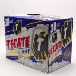 Tecate - Light Beer - 12oz Can - 30 Pack