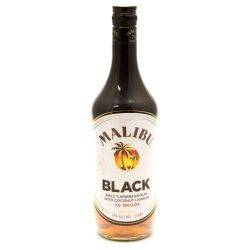 Malibu - Black Caribbean Rum - 750ml
