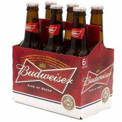 Budweiser - Beer - 12oz Bottle - 6 pack