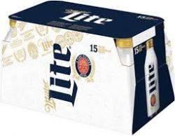 Miller Lite 15 pack - 16oz cans