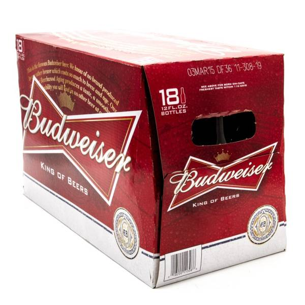Budweiser Beer 12oz Bottle 18 Pack Beer Wine And