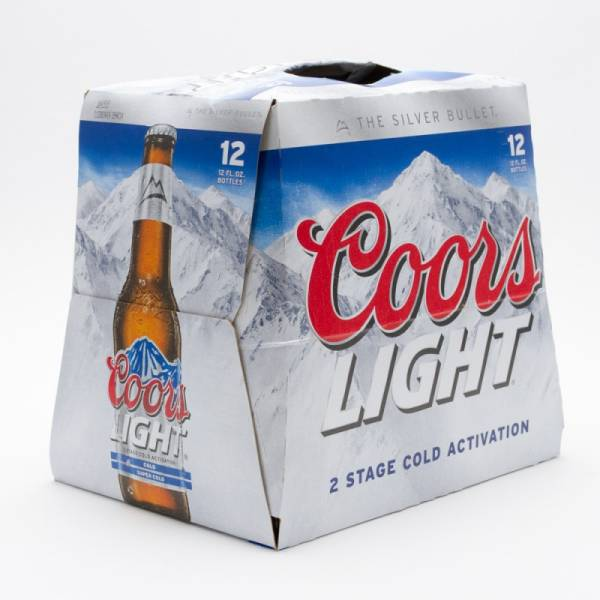 Coors Light Beer 12oz Bottle 12 Pack